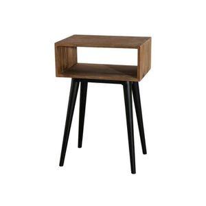 BOUT DE CANAPÉ Bout de canapé industriel en bois teck - L 50 cm