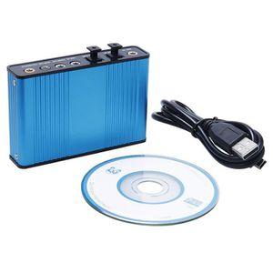 CARTE SON ET DSP Carte son fibre USB 5.1 7.1 pour magnétophone phon