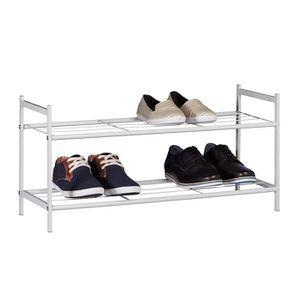 MEUBLE À CHAUSSURES Meuble à chaussures SANDRA avec 2 étages étagère e