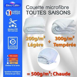 COUETTE Couette toutes saisons microfibre 240 x 260 cm pou