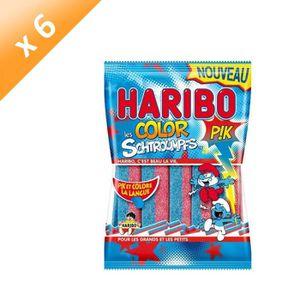 CONFISERIE DE SUCRE HARIBO Lot de 6 Bonbons fantaisies acidifiés Color