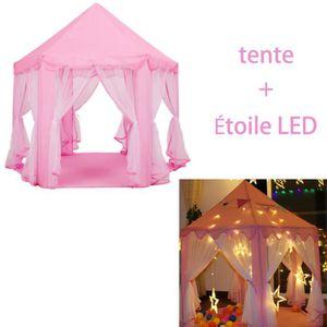 TENTE TUNNEL D'ACTIVITÉ Tente enfants Tente de Jeu+Étoile LED+lanterne ros
