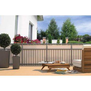 CLÔTURE - GRILLAGE Brise vue pour Balcon avec Œillets + Cordelette Cr