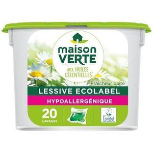 LESSIVE MAISON VERTE Lessive Fraicheur été capsules - x20