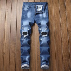 JEANS Jeans Homme troué Pantalon Classique -Taille Asiat