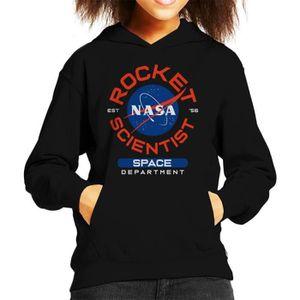 SWEATSHIRT NASA Space Department Rocket Scientist Sweat à Cap