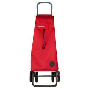 CHARIOT DE MARCHÉ Poussette de marché 4 roues avec sac en tissu et c