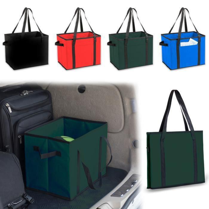 ANTEVIA - Boite de rangement pliable et transportable pour voiture - Coffre Camping Car Pliante - Couleur : Vert (Nardelly vert)