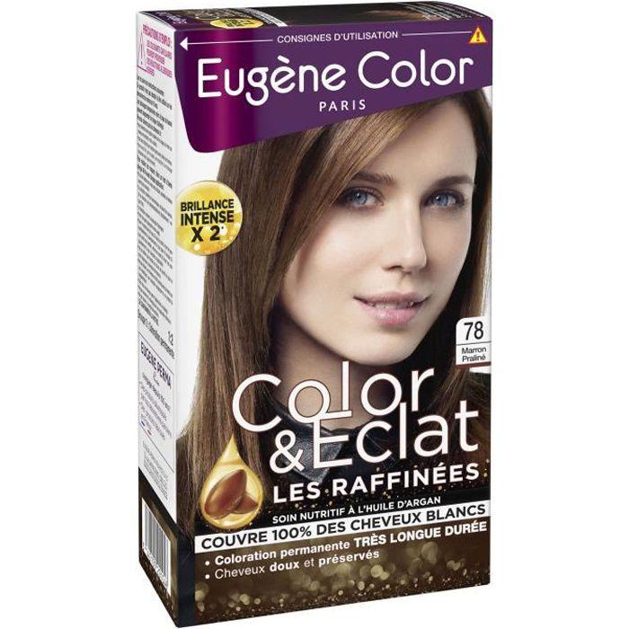 EUGENE COLOR Crème colorante permanente Les Raffinées N°78 - Marron Praliné