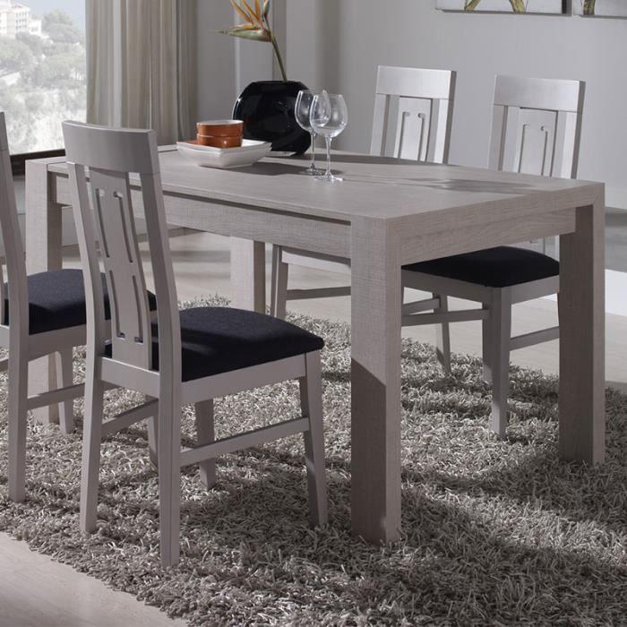 Table à manger extensible couleur bois clair ADOUR 120 cm