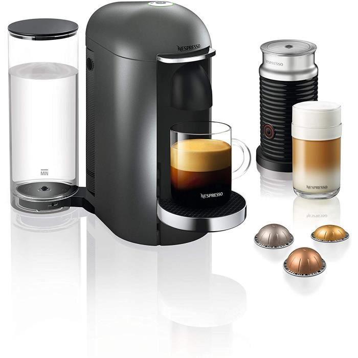 CAFETIERE Krups Nespresso Vertuo Plus Machine agrave cafeacute Reacuteservoir deau 11 l titane1052