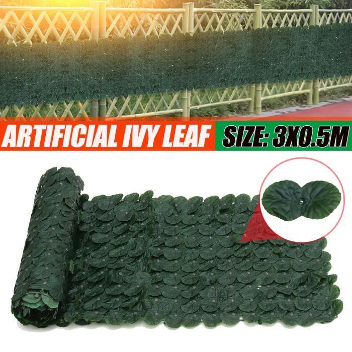 300cm Feuilles Lierre Artificielle Guirlande Vert Décoration Type-C