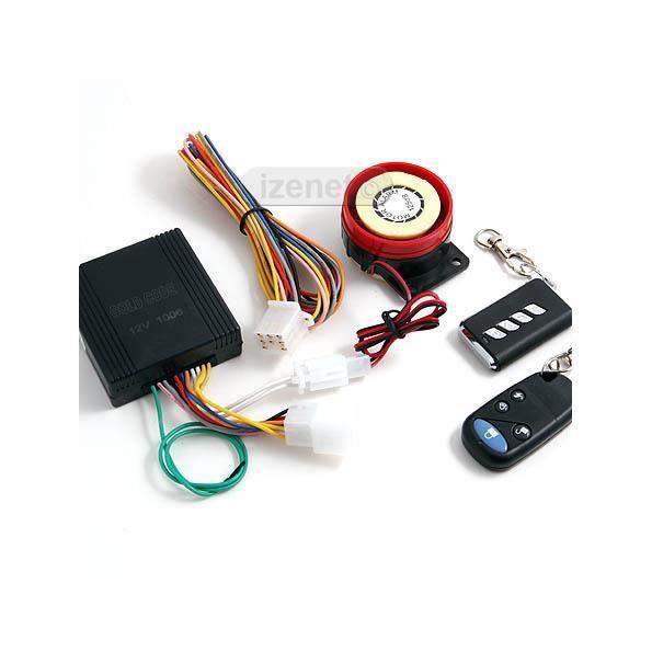 Alarme pour Moto Scooter Télécommande Multifonctions