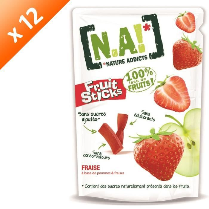 [LOT DE 12] N.A Fruit Sticks Doypack de Fraise - 40 g