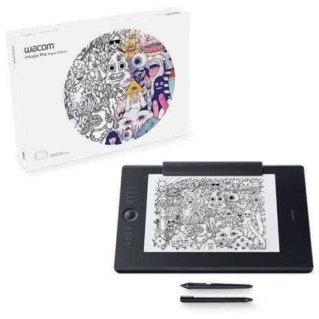 WACOM Tablette graphique Intuos Pro Paper Edition - Médium + ACK-20003 5 pointes stylet feutre