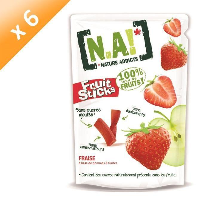 [LOT DE 6] N.A Fruit Sticks Doypack de Fraise - 40 g