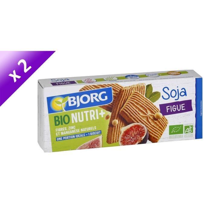 [LOT DE 2] BJORG Gouters soja figue - 2 x 240g