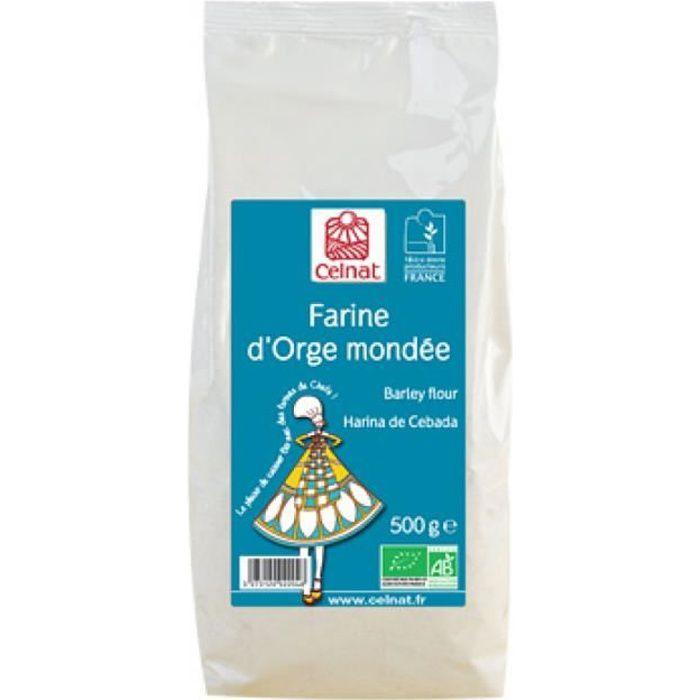 Farine d'Orge mondée 500 gr Celnat