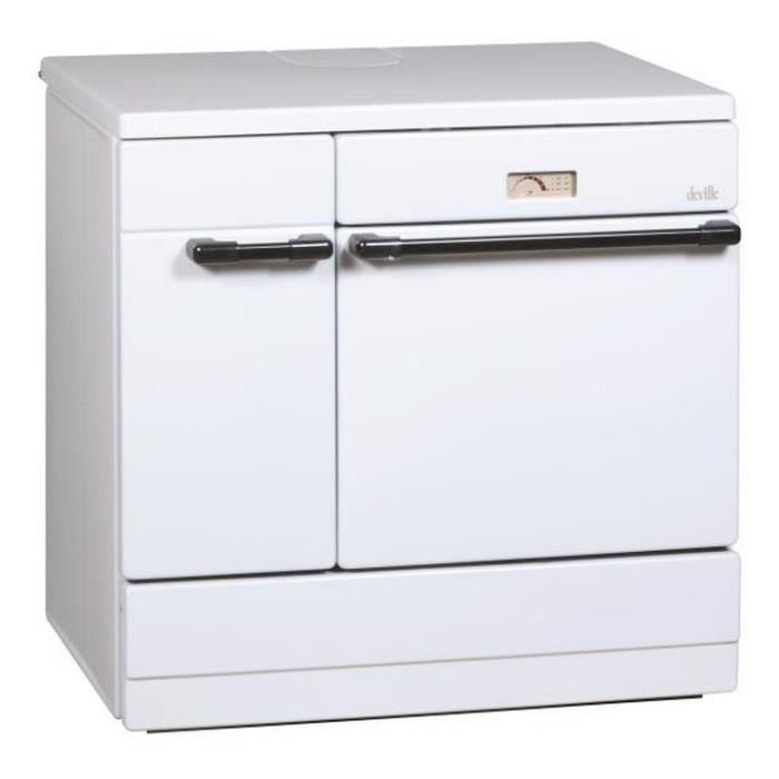 Deville - cuisinière à bois 12kw blanc - c08631-01-a