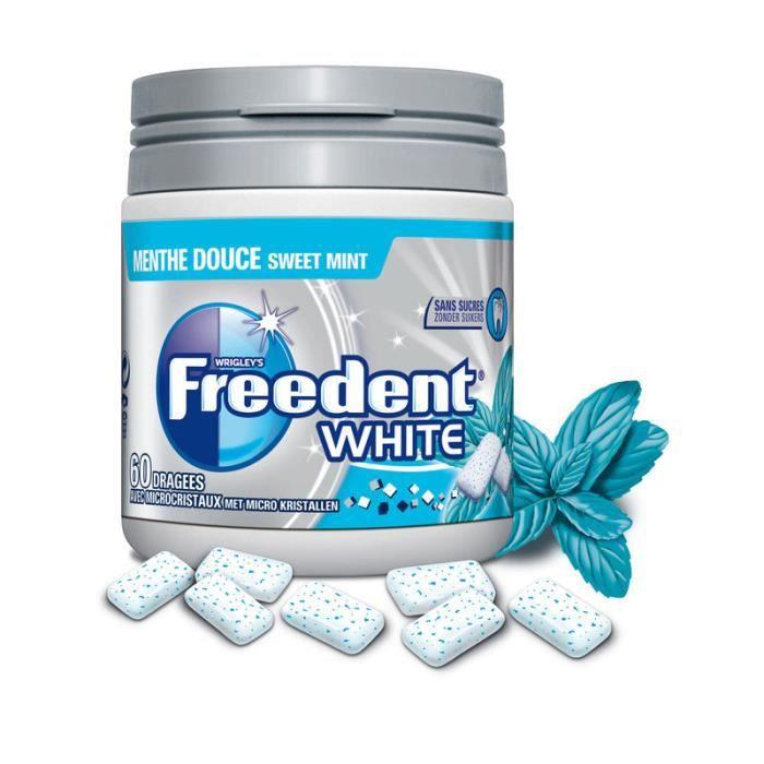 Freedent box white menthe douce x60 dragées