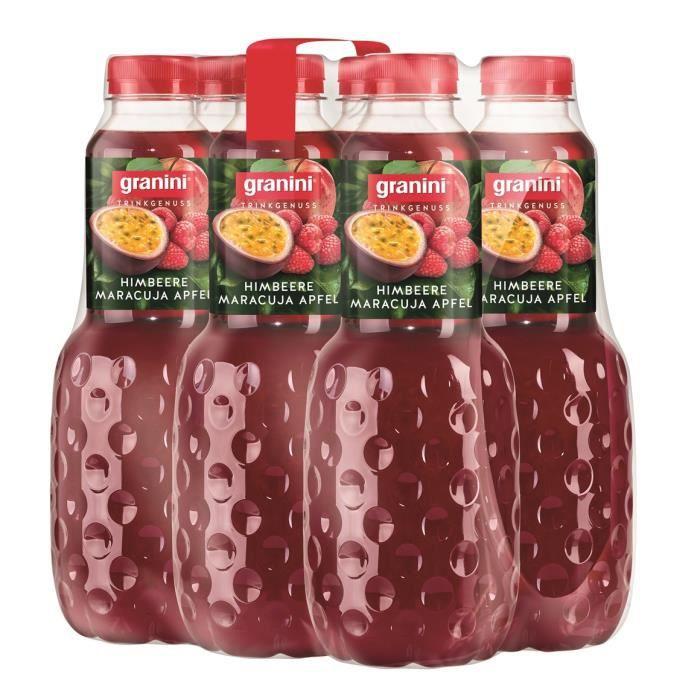 Granini Framboise Fruit de la passion Pomme jus de fruit 6 x 1l