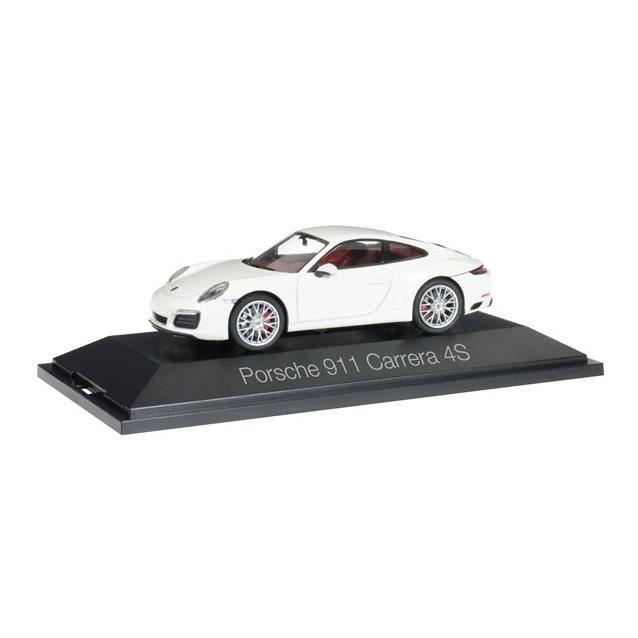 Véhicule Miniature assemble - Porsche 911 Carrera 4 S coupé blanc 1-43 Herpa