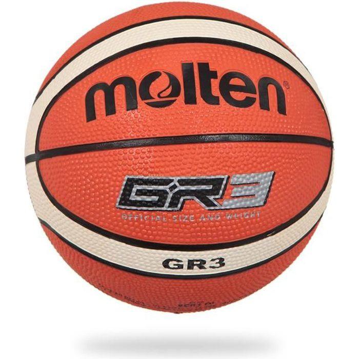 MOLTEN Ballon de Basket Gr-Oi - Orange et Ivoire