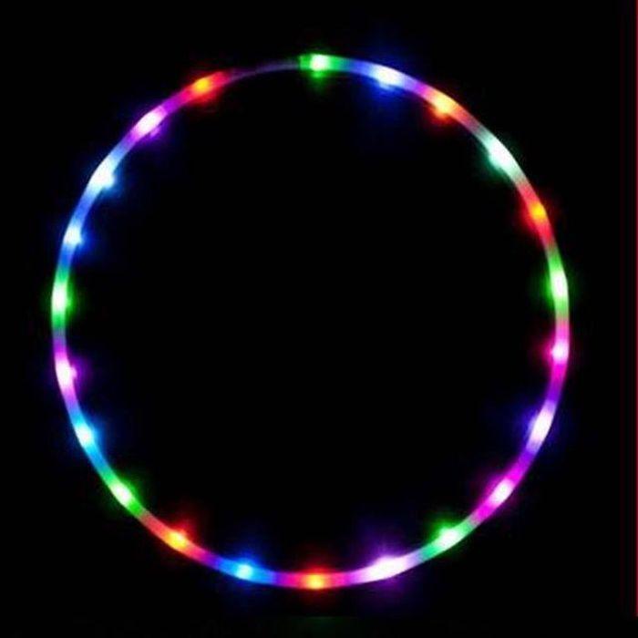 LED Cerceau de Fitness Hoop (UltraGrip/Glitter) Travel Hula Hoop - Pliable Hula Hoop Pondéré, Pour Aerobic et Hoop Danse :90cm