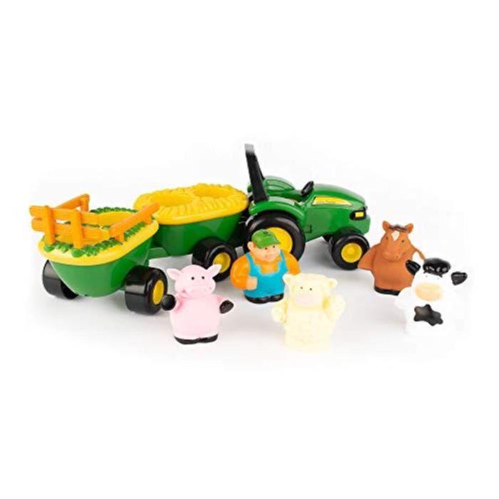 Poupon TOMY F6HNC John Deere Animal Sounds Hayride jouets préscolaires