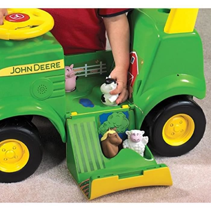 Voiture Electrique TOMY X0R63 John Deere Sit 'N Scoot Activity Tract