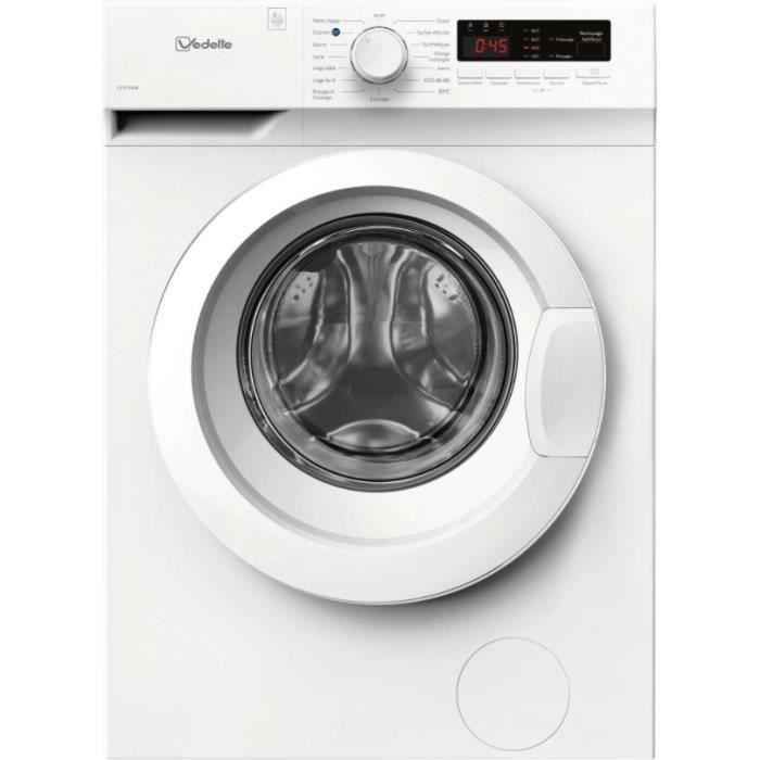 Lave linge hublot VEDETTE LFV184W Blanc