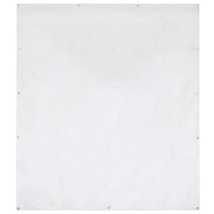 vidaXL Panneau latéral de tente de réception PVC 2x2 m Blanc 550 g-m²