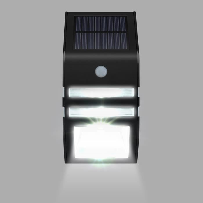 Lampe solaire murale led eclairage solaires d 39 ext rieur for Lampe led exterieur