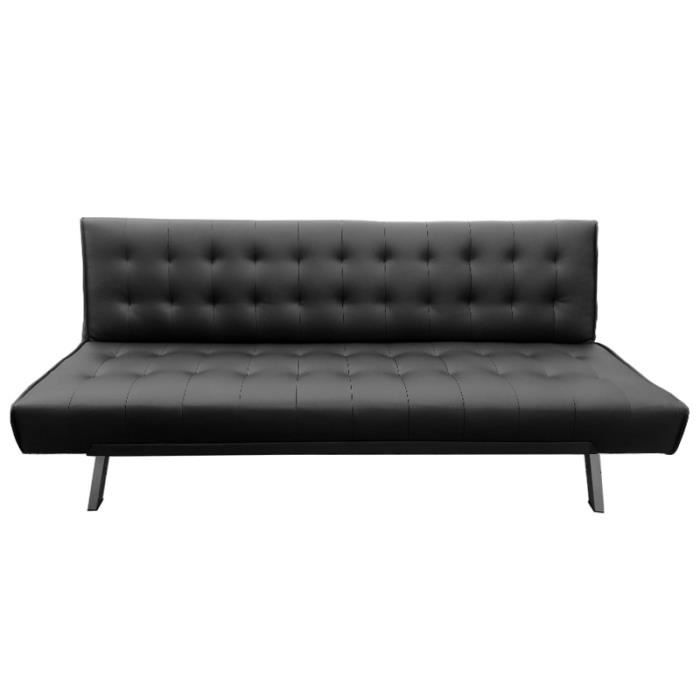 banquette clic clac noir capitonn design achat vente clic clac cdiscount. Black Bedroom Furniture Sets. Home Design Ideas