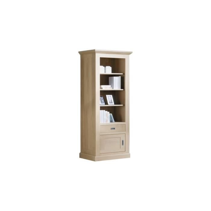 biblioth que ouverte ch ne massif naturel 1 porte 1 tiroir achat vente biblioth que. Black Bedroom Furniture Sets. Home Design Ideas