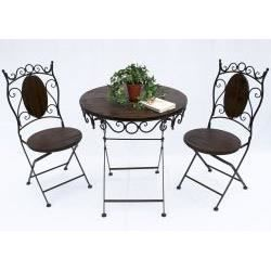 Ensemble table et 2 chaises en fer forg achat vente - Table et chaise de salon ...