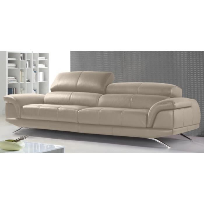 canap 4 places dior cuir ou tissu achat vente canap sofa divan cdiscount. Black Bedroom Furniture Sets. Home Design Ideas