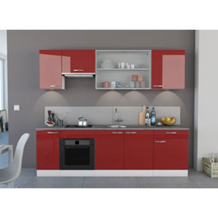 cuisine am nag e laqu e rouge roja rouge achat vente cuisine compl te cuisine am nag e. Black Bedroom Furniture Sets. Home Design Ideas