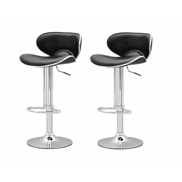 tabouret de bar noir x2 elite achat vente tabouret de. Black Bedroom Furniture Sets. Home Design Ideas