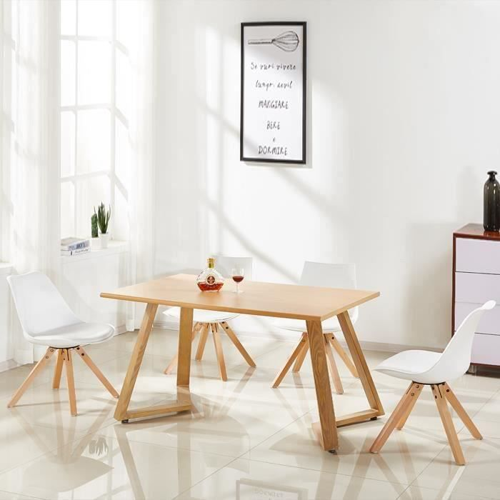 table a manger bois scandinave achat vente table a. Black Bedroom Furniture Sets. Home Design Ideas