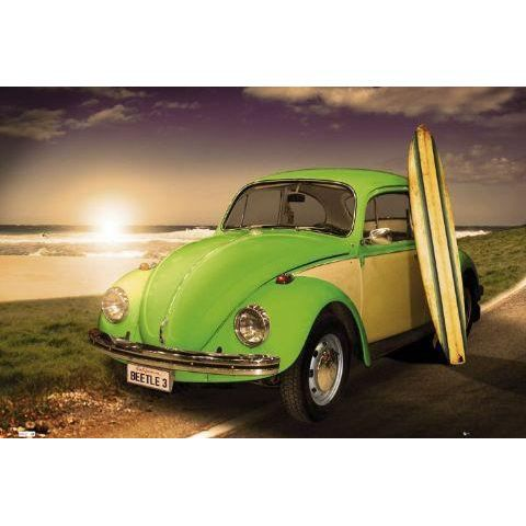 affiche volkswagen coccinelle califorine 91x61cm achat vente affiche drapeau cdiscount. Black Bedroom Furniture Sets. Home Design Ideas