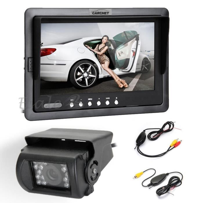 7 lcd voiture moniteur r troviseur cam ra de recul led. Black Bedroom Furniture Sets. Home Design Ideas