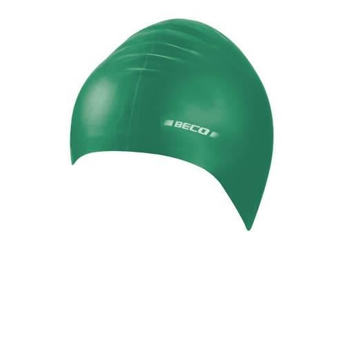 BONNET PISCINE- CAGOULE Beco bonnet de bain latex unisexe vert taille uniq