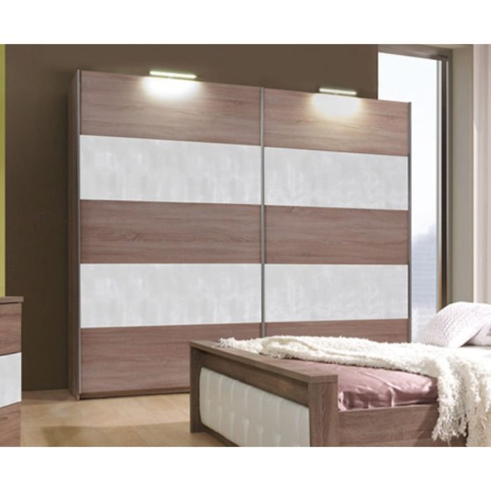 armoire design paula en bois naturel 2m achat vente armoire de chambre armoire paula en. Black Bedroom Furniture Sets. Home Design Ideas
