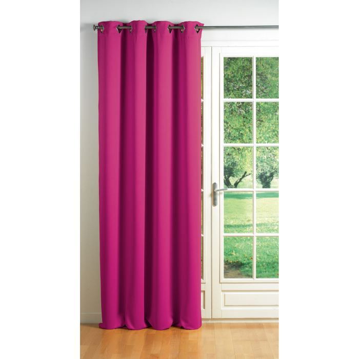 rideau occultant oeillets cocoon coloris fuchsia achat vente rideau m tal cdiscount. Black Bedroom Furniture Sets. Home Design Ideas