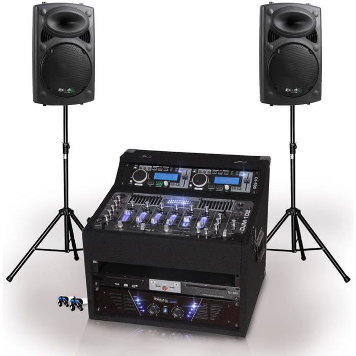 pack sono complet 2x slk 12 dj1000 mkii 2x480w pack. Black Bedroom Furniture Sets. Home Design Ideas