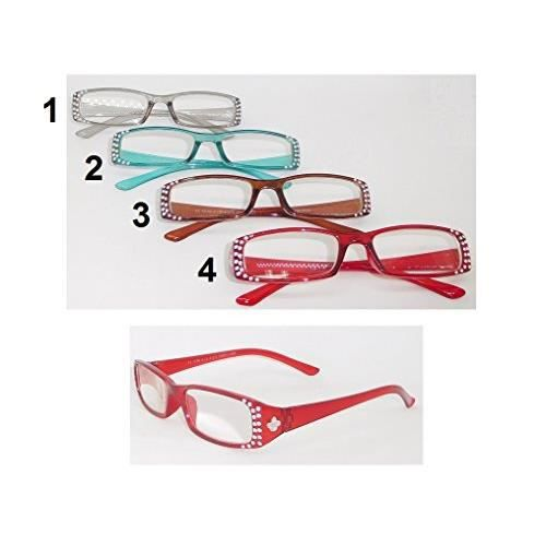 f4b99c8859 Paire lunette de lecture +2.50 Strass Loupe Grossissante - Mod4 Rouge - 757