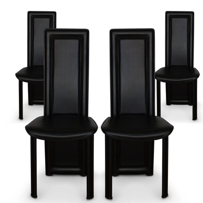 lot de 4 chaises lune noir achat vente chaise noir cdiscount. Black Bedroom Furniture Sets. Home Design Ideas