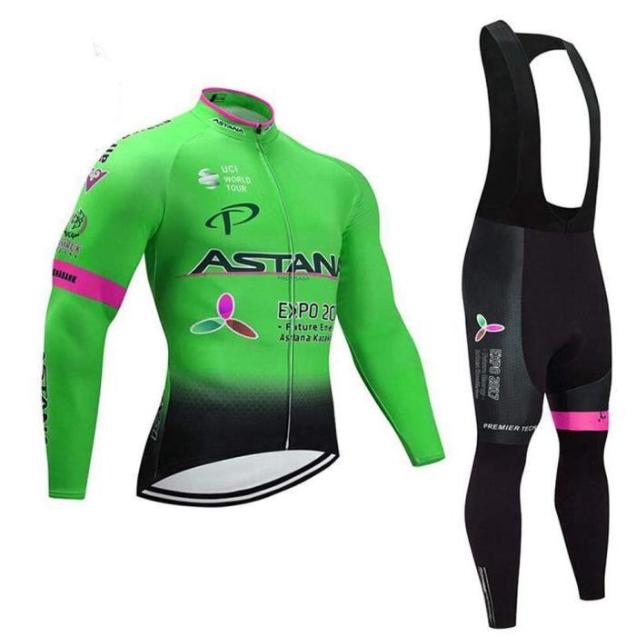 Cuissard /à Bretelles Long et Manches Longues BXIO V/êtements de Cyclisme pour Hommes et Femmes Witner V/êtements de Cyclisme