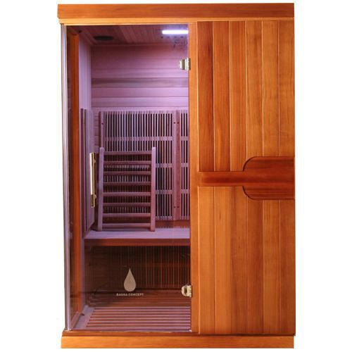 sauna infrarouge celeno 2 places red cedar achat vente. Black Bedroom Furniture Sets. Home Design Ideas